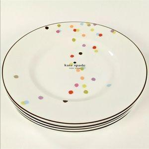 "Kate Spade ♠️ Lenox Market St Confetti 9"" Plates 4"